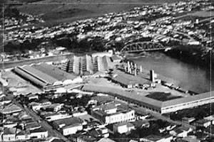 Construção do Prédio e vista aérea da antiga cerâmica Mogi Guaçu