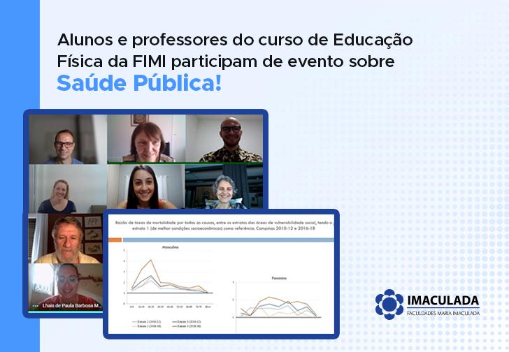 Alunos do curso de Educação Física da FIMI participam de evento sobre Saúde Pública!