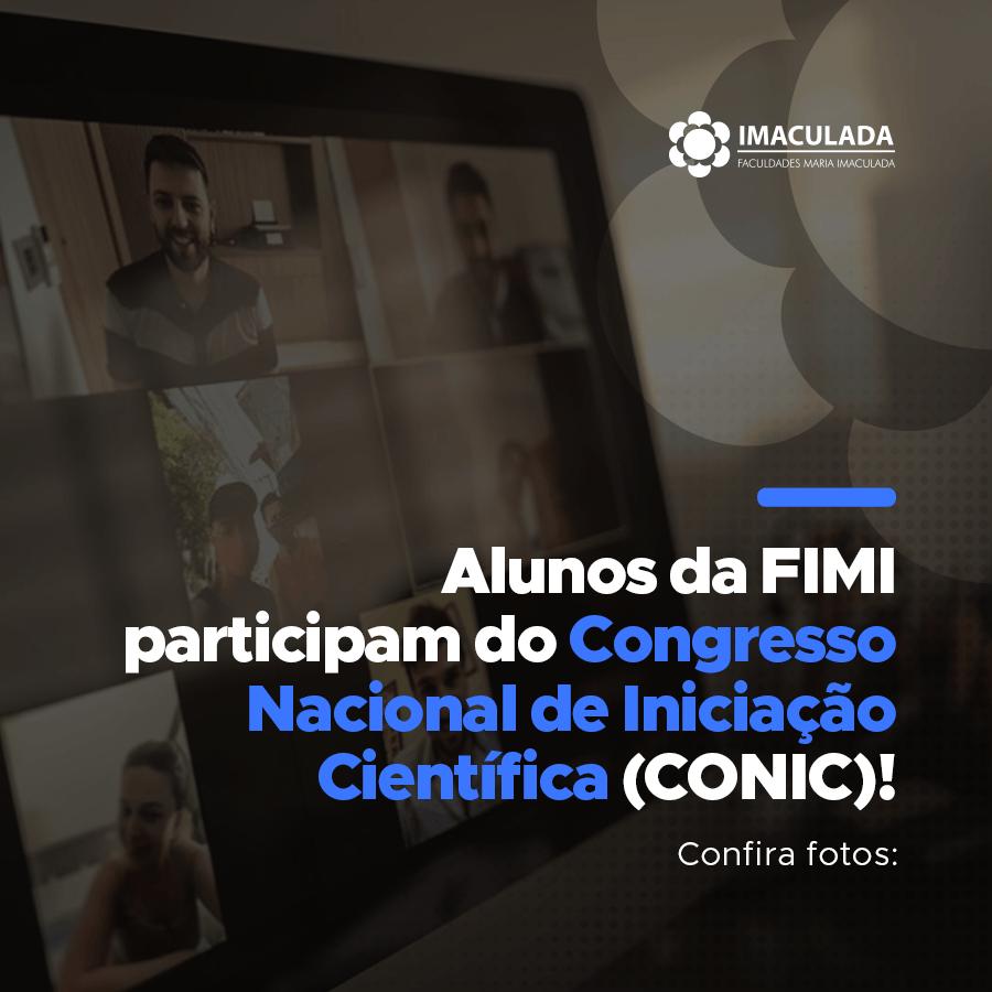 Alunos da FIMI participam do Congresso Nacional de Iniciação Científica (CONIC)