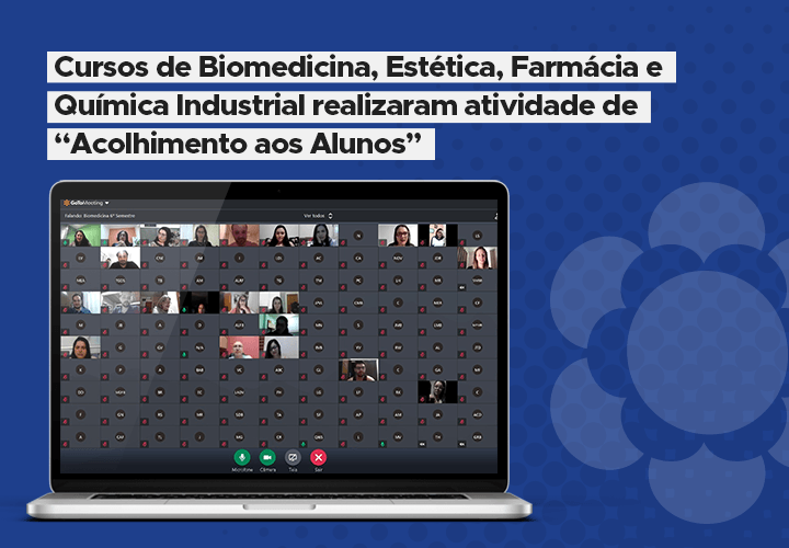 "Cursos de Biomedicina, Estética, Farmácia e Química Industrial realizaram atividade de ""Acolhimento aos Alunos"""