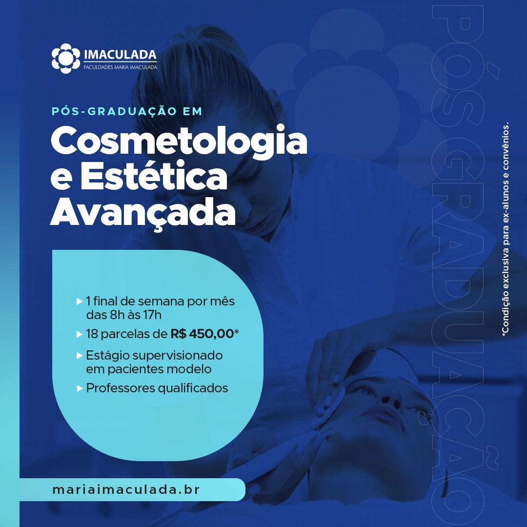 Faça sua inscrição para a Pós-Graduação em Cosmetologia e Estética Avançada