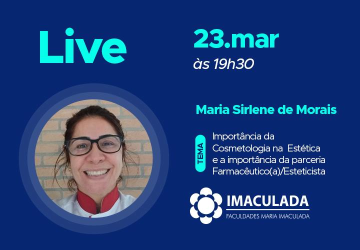 Live: Importância da Cosmetologia na  Estética e a importância da parceria Farmacêutico(a)/Esteticista.
